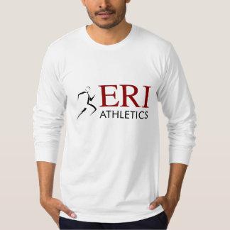 ERIの運動競技-灰色の長袖 Tシャツ