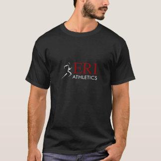 ERIの運動競技-黒く短い袖 Tシャツ