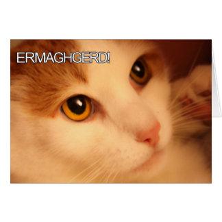 Ermahgerdかわいい猫の挨拶状 カード