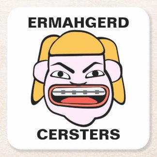 Ermahgerd Cersters スクエアペーパーコースター