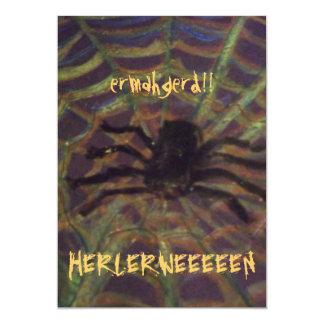 ERMAHGERD! HERLERWEEEEN! くも! パーティの招待状 カード
