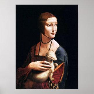 Ermineポスターを持つレオナルド・ダ・ヴィンチの女性 ポスター