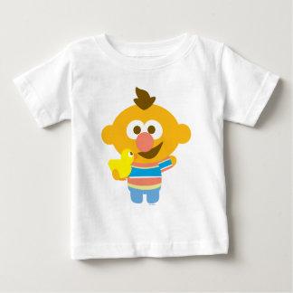 Ernieのベビーの顔およびDuckie ベビーTシャツ