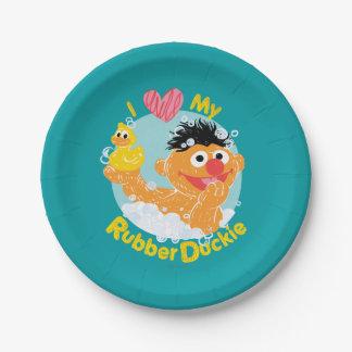ErnieはDuckieを愛します ペーパープレート