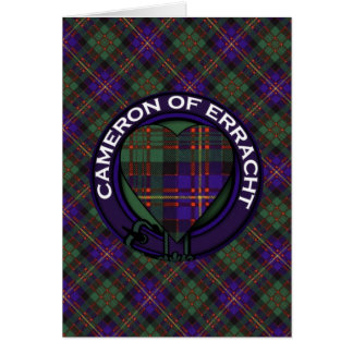 Errachtのスコットランド人のタータンチェックのカメロン カード