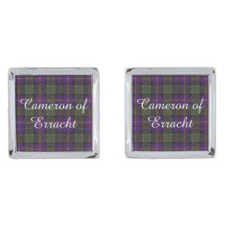 Errachtの一族の格子縞のスコットランド人のタータンチェックのカメロン シルバー カフスボタン