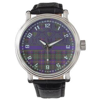 Errachtの一族の格子縞のスコットランド人のタータンチェックのカメロン 腕時計