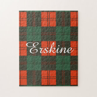 Erskineの一族の格子縞のスコットランド人のタータンチェック ジグソーパズル