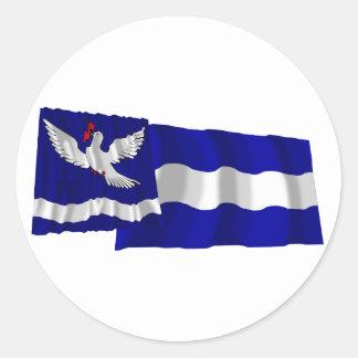 Eschenの振る旗 ラウンドシール