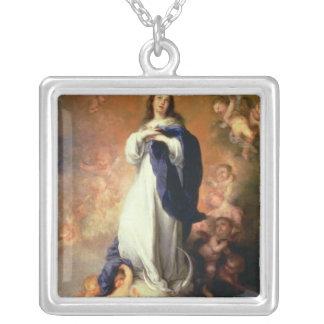 Escorialの処女懐胎、c.1678 シルバープレートネックレス