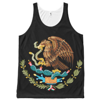 Escudo Nacional de Mexicoo -メキシコ紋章 オールオーバープリントタンクトップ