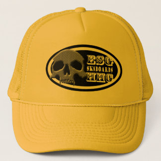 ESGHHG SK8BDSの吸血鬼のスカルのロゴ キャップ