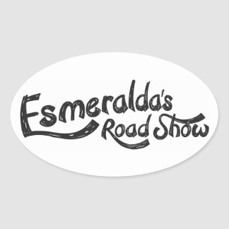 Esmeraldaのロードショーの公式の楕円形のステッカー 楕円形シール