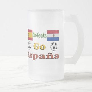 Españaは行きます フロストグラスビールジョッキ