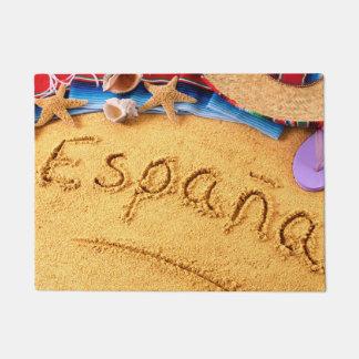 Españaスペインのビーチの玄関マット ドアマット