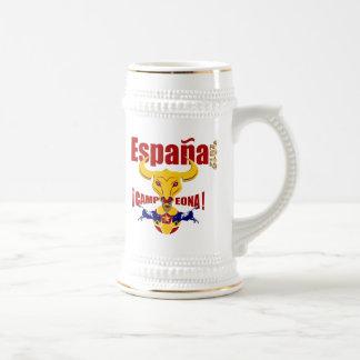 España 2012年のCampeona Jarro de CervezaスペインBull ビールジョッキ