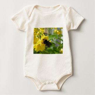 Esperanzaの花の《昆虫》マルハナバチ ベビーボディスーツ