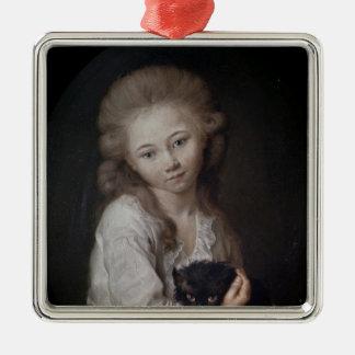 Esprit de Baculardのd'Arnaud 1776年 シルバーカラー正方形オーナメント