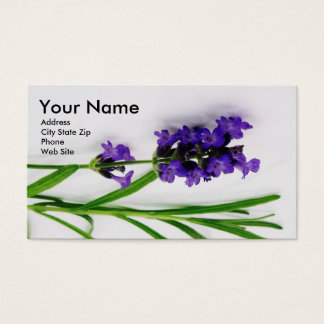 Essential Oil Business Cards with Lavender2 名刺