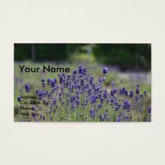 Essential Oil Business Cards with Lavender 名刺