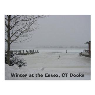 Essexの波止場、Essexの冬、CTの波止場 ポストカード