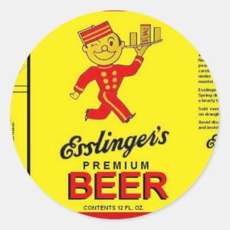 ESSLINGERの優れたビール連続したウェイターwの皿 ラウンドシール