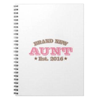 Est真新しい叔母さん。 2016年(ピンク) ノートブック
