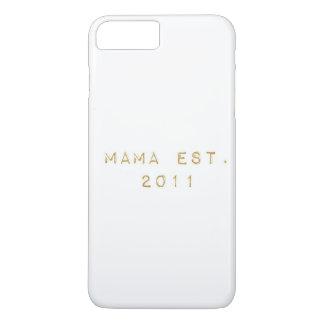 EST 2011年ママ iPhone 8 PLUS/7 PLUSケース