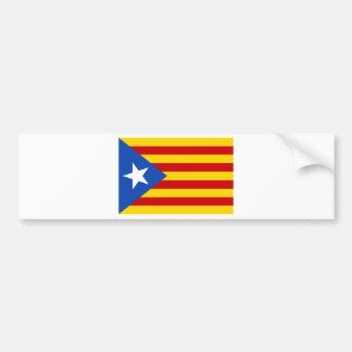 Esteladaのbanderaのindependentista de Catalunya バンパーステッカー