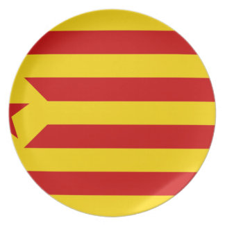 Esteladaのbanderaのindependentista de Catalunya パーティープレート