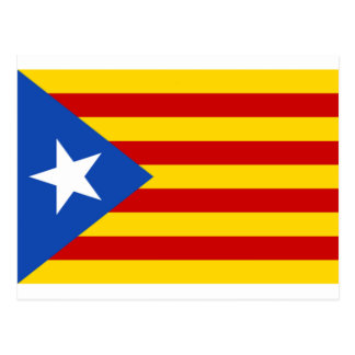 Esteladaのbanderaのindependentista de Catalunya ポストカード