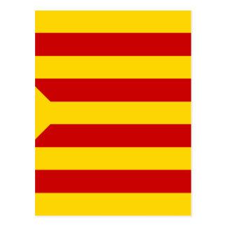 Estelada Roja - Banderaのindependentista Catalana ポストカード