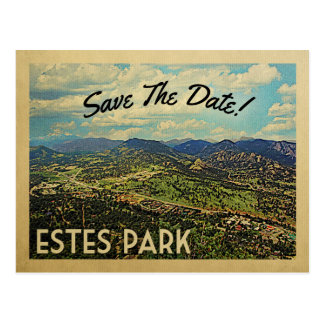 Estes公園の保存日付コロラド州 ポストカード