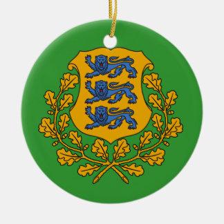 ESTONIA*のカスタムなクリスマスのオーナメント 陶器製丸型オーナメント