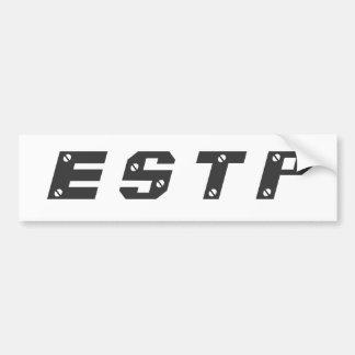 ESTPのバンパーステッカー バンパーステッカー