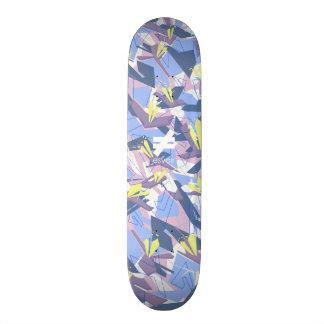Esvoirの迷彩柄の印7のラベンダー スケートボードデッキ