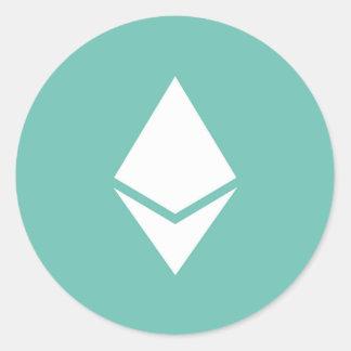Ethereumのステッカー ラウンドシール