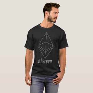 Ethereum ETHの宇宙の灰色のCryptocurrencyのTシャツ Tシャツ