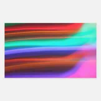 Etherial -ユニークな運動芸術の写真撮影 長方形シール