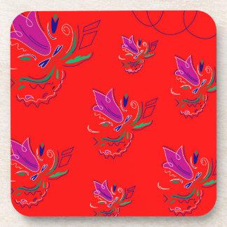 Ethnoのボリビアの贅沢な花/コレクション コースター