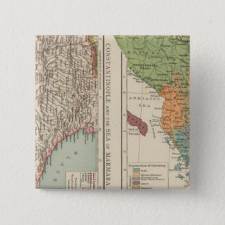 Ethnogのバルカン半島、コンスタンチノープル 5.1cm 正方形バッジ