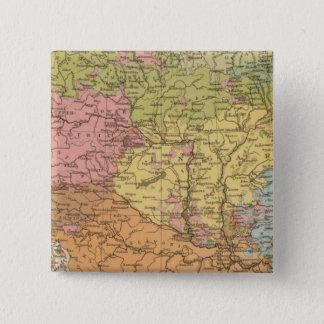 Ethnogオーストリアハンガリー 5.1cm 正方形バッジ