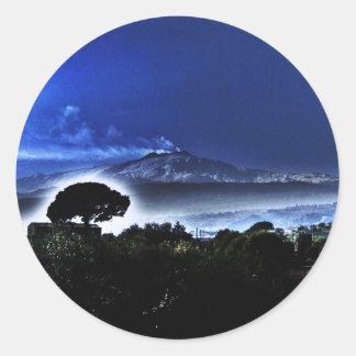 Etnaの夕べの霧 ラウンドシール