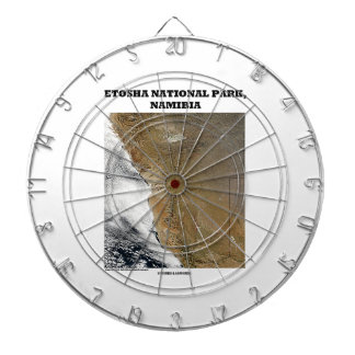Etoshaの国立公園の写真の地球の地理学 ダーツボード