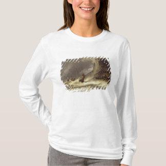 Etretat、ノルマンディー1851年の海岸の嵐 Tシャツ