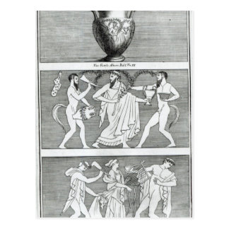 Etruscanのつぼからの2つの場面 ポストカード