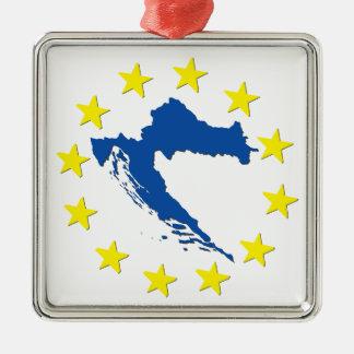 EUのクロアチア メタルオーナメント