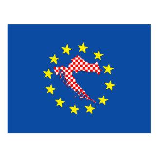 EUのクロアチア 葉書き
