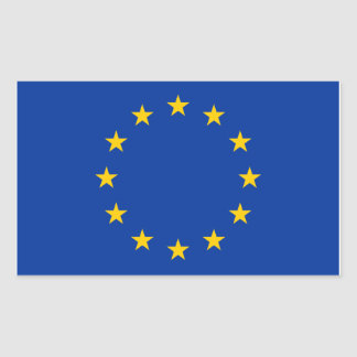 EUは印を付けます 長方形シール