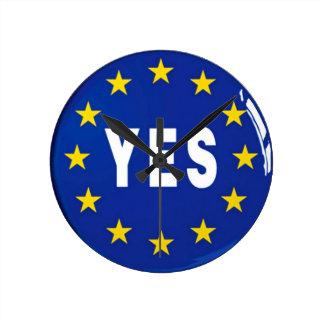 EUへのYes -欧州連合の滞在 ウォールクロック